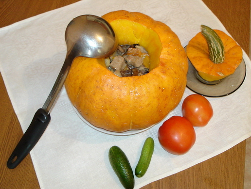 Тыква с фаршем в духовке рецепты пошагово
