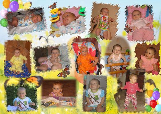Коллаж на годик ребенку своими руками фото